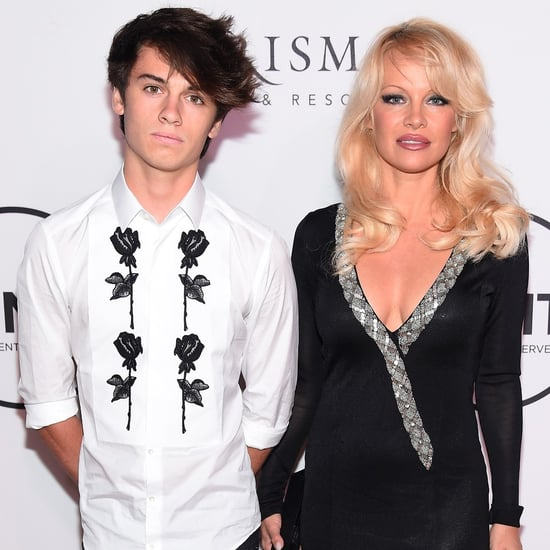 Pamela Anderson and Dylan Lee at Unitas Gala 2016