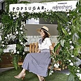 Coordinating gingham was the way to go at the POPSUGAR x Starbucks Refreshers party.