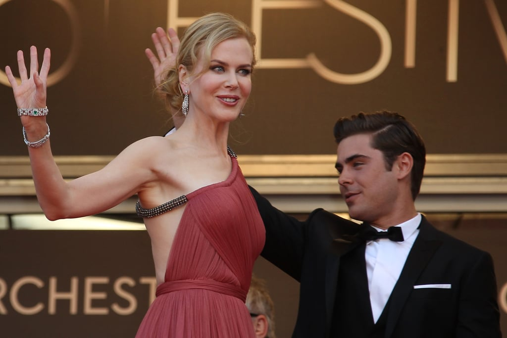 Nicole Kidman and Zac Efron wave to the crowd at the premiere of The Paperboy in Cannes.