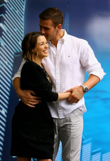 Pictures of Dannii Minogue and Kris Smith at the Australian Open
