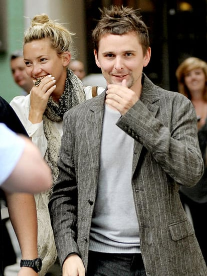 Kate Hudson reunites with her rocker beau, Muse frontman Matthew Bellamy, for a sweet stroll in London Thursday