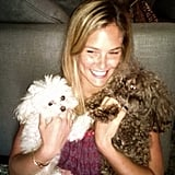 Bar Refaeli spends lots of time with her two furry friends, MishMish and Pucci, when she's at home in her native Israel. Source: Instagram user barrefaeli