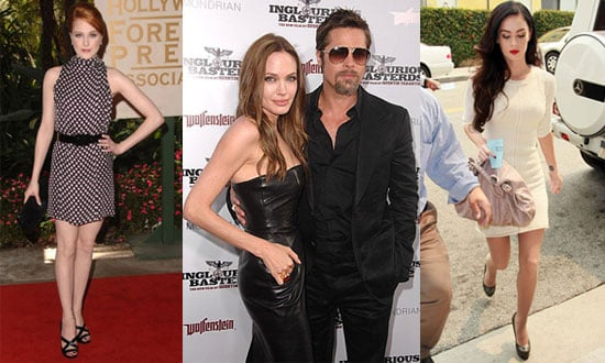 Photo of Evan Rachel Wood, Angelina Jolie, Brad Pitt, and Megan Fox