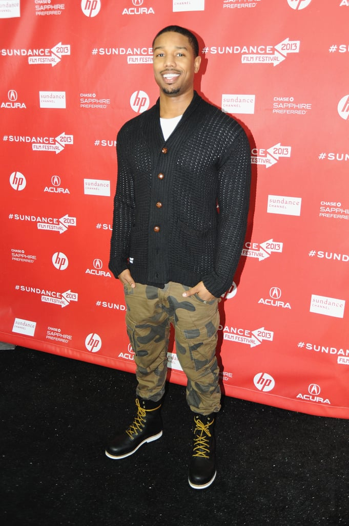 Michael B. Jordan walked the red carpet on Saturday at the premiere of Fruitvale at Sundance.