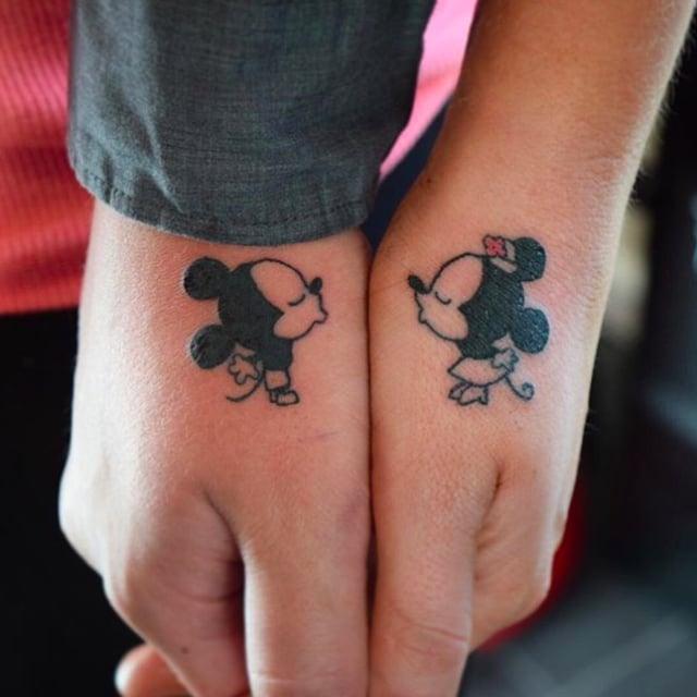 Image Gallery husband wife tattoo disney