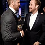 Ryan Reynolds and Ryan Gosling Hug and Stare Into Each Other's Eyes at the Critics' Choice Awards