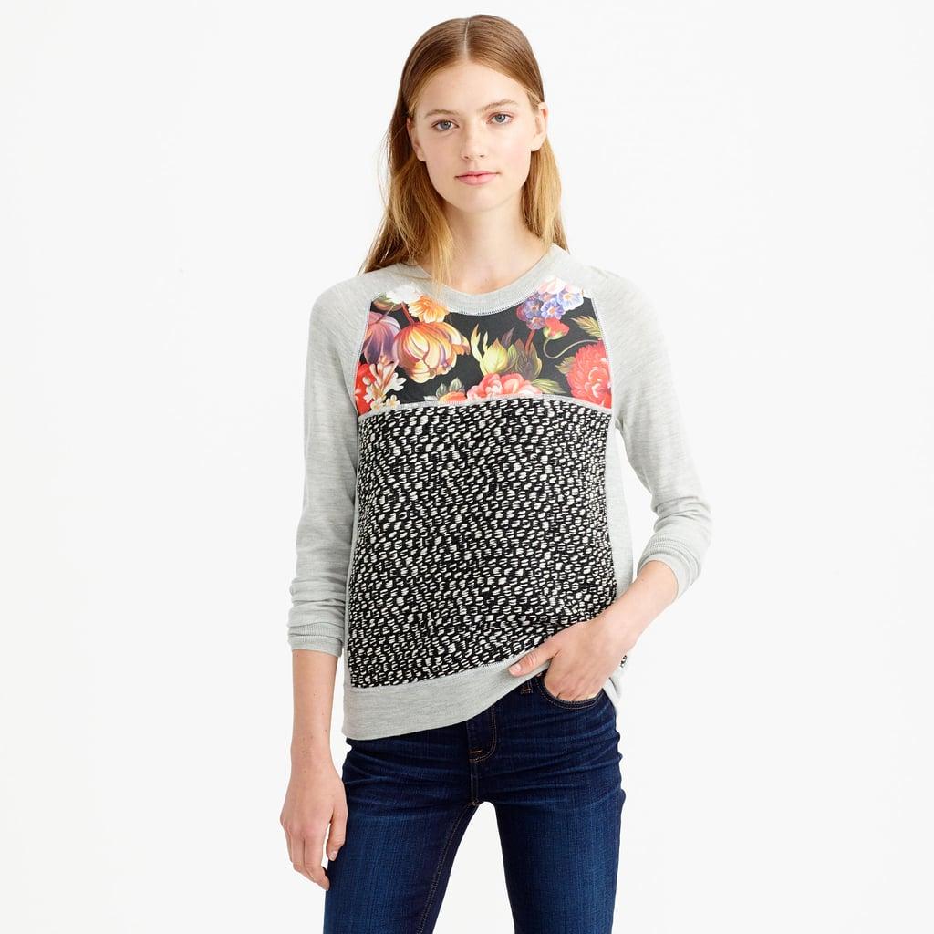 J.Crew Merino Wool Mixed Media Sweater