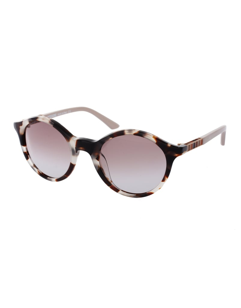 Quirky, Cool Sunglasses For Every Season We love the timeless look yet cool tortoiseshell effect of these Missoni shades. Plus, the retro-inspired shape will look great on just about every face shape. Missoni Round Lens Sunglasses With Enamel Stripe Detail ($181, originally $317)