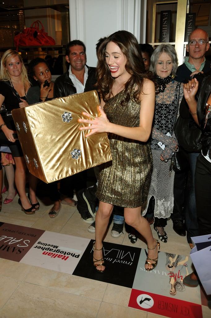 Emma Rossum lovely in bronze