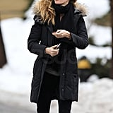 Gisele and Tom Make Their Way Through a Snowy Football Season