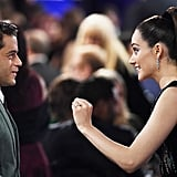 Pictured: Emmy Rossum and Rami Malek