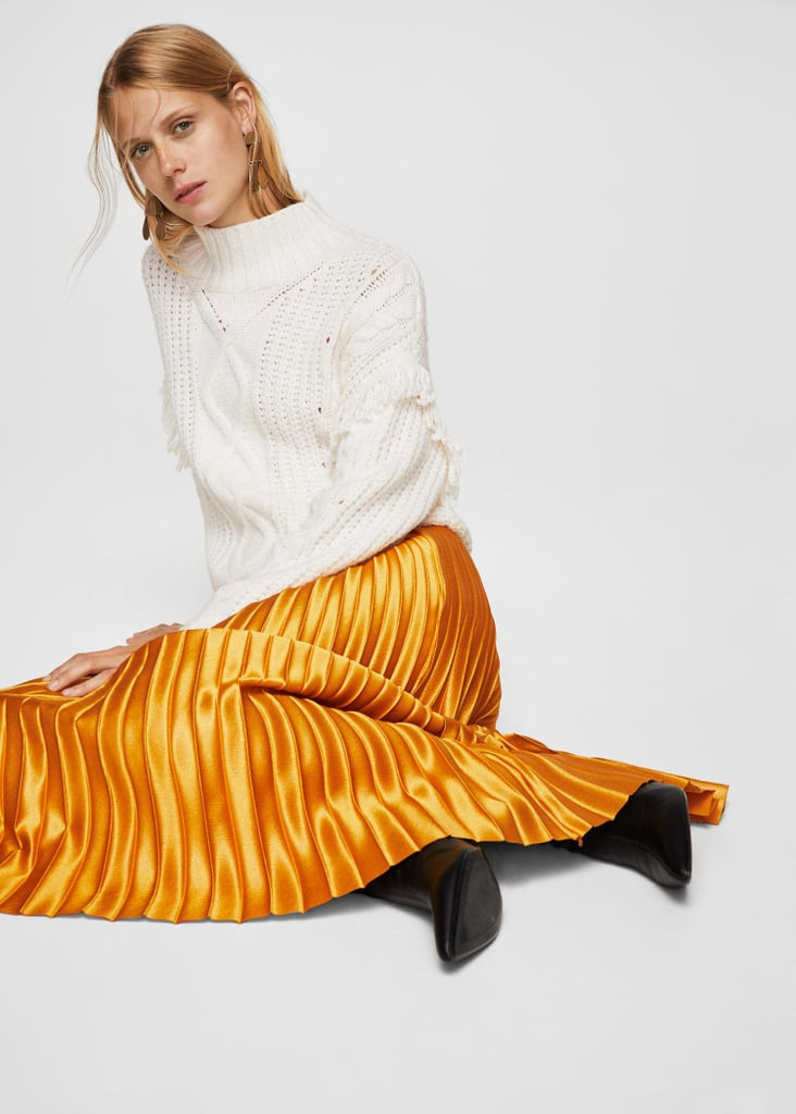 Mango Metallic Skirt