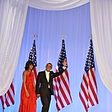 Lady in Red: Michelle Is Barack's Belle of the Inaugural Balls