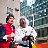 Al Roker and Dylan Dreyer as Marty McFly and Doc Brown From Back to the Future