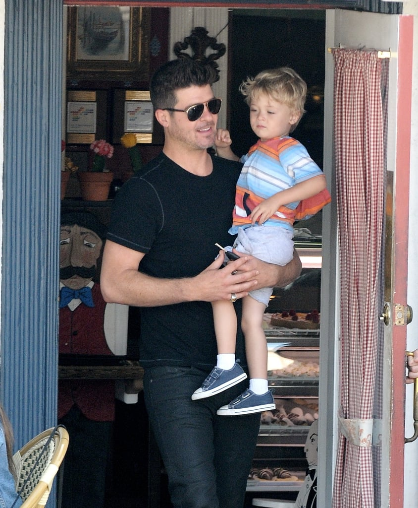 Robin thicke with son in la popsugar celebrity nvjuhfo Image collections