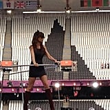 Victoria Beckham shared a snap from the closing ceremonies rehearsals. Source: Twitter user victoriabeckham
