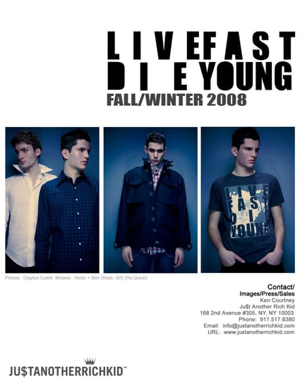 Just Another Rich Kid Fall 2008 Look Book