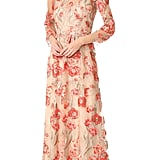 Marchesa Embroidered Gown With Lace Slip