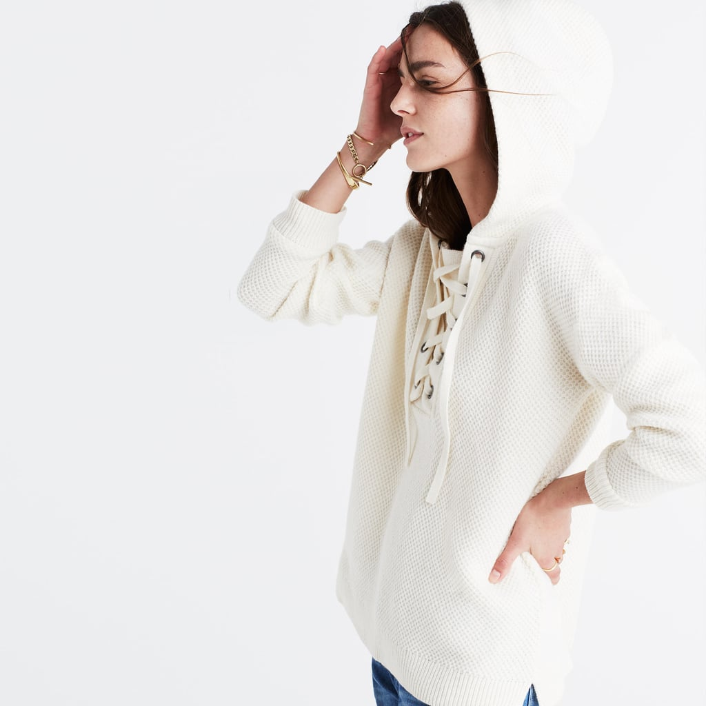 Madewell Lace-Up Hoodie Sweater ($128)