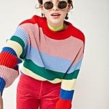 Monki Crew Neck Knit Sweater