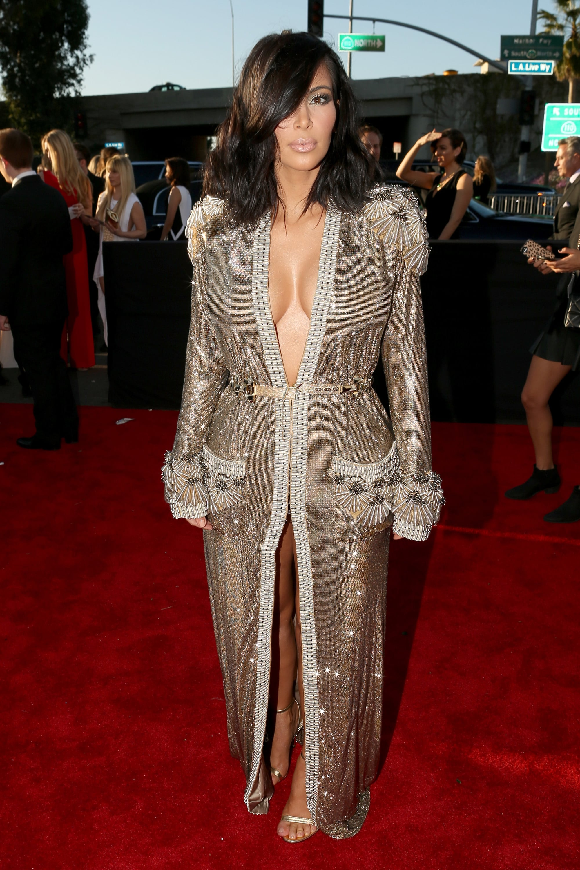 Kim Kardashian\'s Dress at the Grammy Awards 2015 | POPSUGAR Fashion