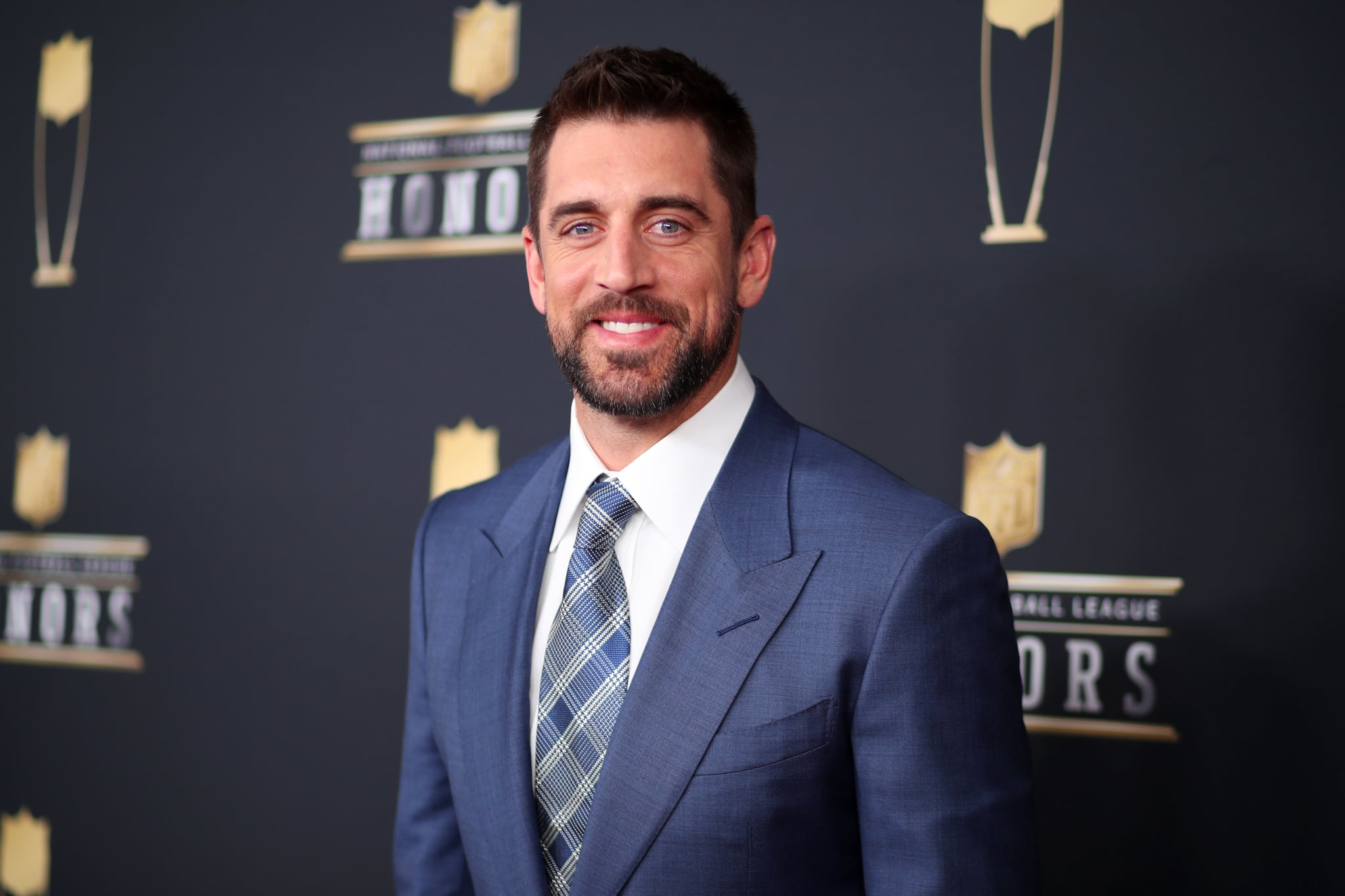 MINNEAPOLIS, MN - FEBRUARY 03:  NFL Player Aaron Rodgers attends the NFL Honors at University of Minnesota on February 3, 2018 in Minneapolis, Minnesota.  (Photo by Christopher Polk/Getty Images)