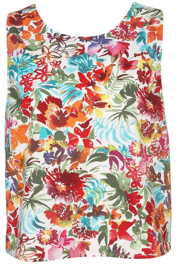 This wear-anywhere floral tank is perfect for pairing with high-waisted jeans. Topshop Bright Floral Bow Back Top ($56)