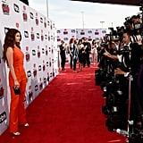 Selena Gomez Mugler Jumpsuit at the iHeartRadio Awards 2016