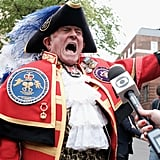 A So-Called Town Crier Proclaimed the News in Quite the Royal Getup