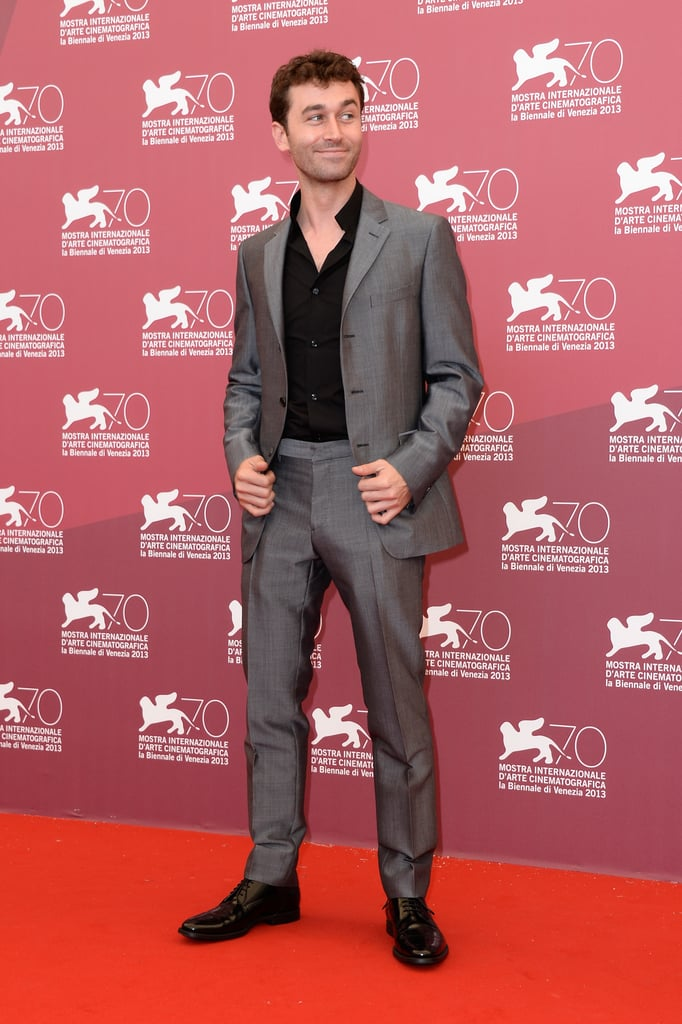 James Deen hit the red carpet for The Canyons' photocall.