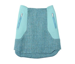 """A textured mini with turquoise leather panels? Rag & Bone gets it right!"" Rag & Bone Best Ever Mini Skirt ($395)"