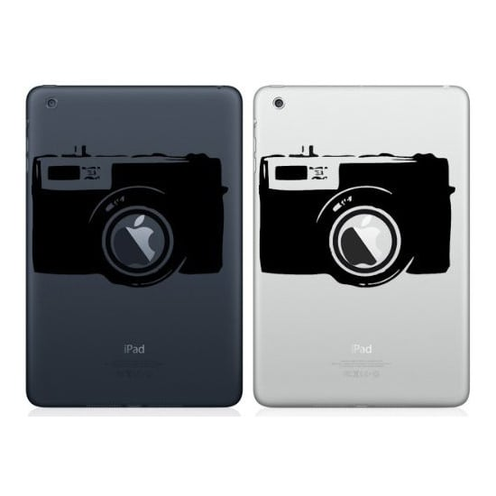 A true shutterbug will appreciate the camera iPad mini decal ($9).