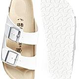 Birkenstock Arizona white double-strap flat sandals ($94)