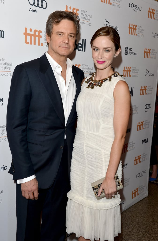Emily Blunt and Colin Firth posed together at the Arthur Newman premiere.