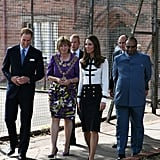 Kate Middleton, in McQueen, Meets Those Affected by Riots in Birmingham With William