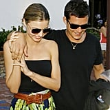 Photos of Orlando Bloom and Miranda Kerr at Dinner