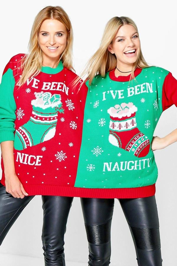 95e0777d11022 Naughty   Nice 2-Person Christmas Jumper