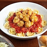 Garlic Shrimp Fritta With Asiago Tortelloni and Marinara