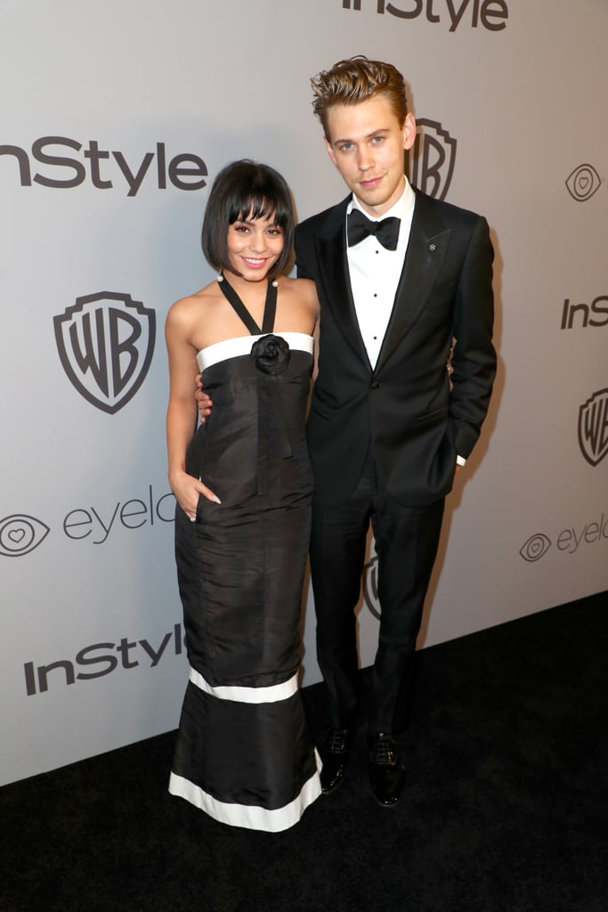 The couple matched the carpet in black-and-white ensembles at the InStyle and Warner Bros. Golden Globes Afterparty in January 2018.