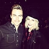Derek and Julianne Hough had a brother-sister night out in LA. Source: Instagram user derekhough