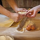 Roll the dough until it's very thin.