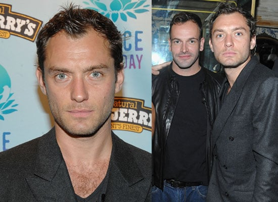 Photos of Jude Law at Peace Day Anniversary in New York City as Rumours Suggest a Sherlock Holmes Sequel Starring Brad Pitt