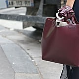 This oxblood carryall made a perfect Fall outfit companion.