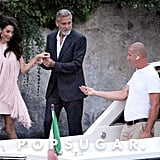 Amal and George Clooney in Lake Como, Italy