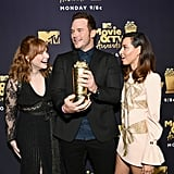 Bryce Dallas Howard, Chris Pratt, and Aubrey Plaza