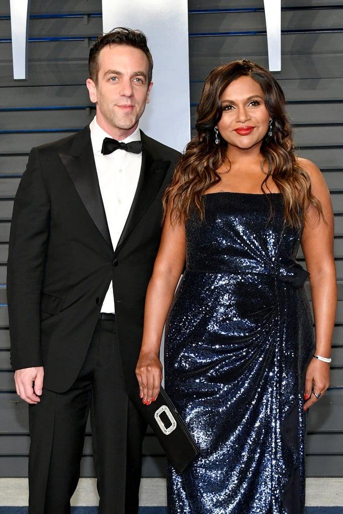 Mindy Kaling and BJ Novak at Oscars Vanity Fair Party 2018