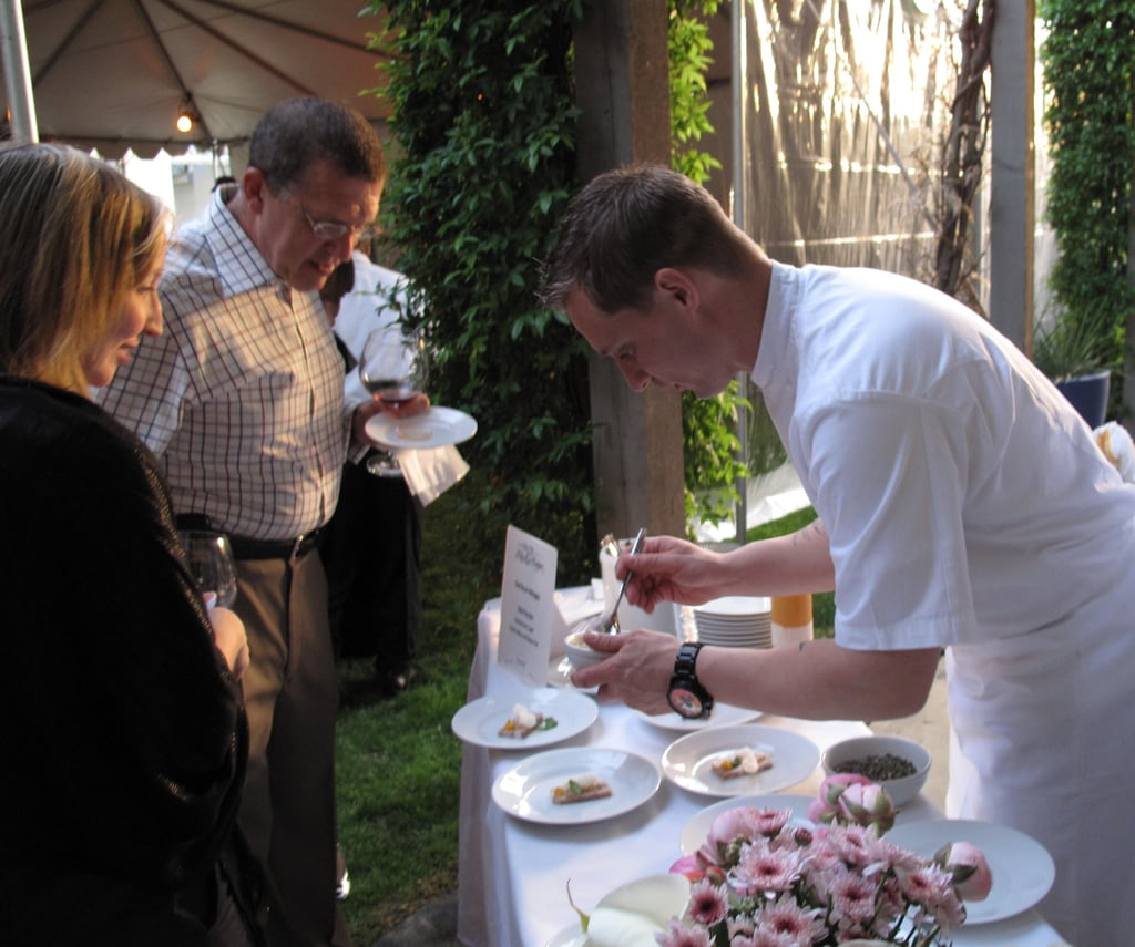 Bryan Voltaggio, who spent many years working with Charlie Palmer, was plating his own dishes.
