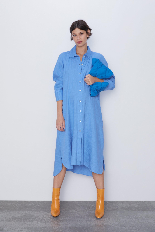 Zara Shirt Dress   Meghan Markle Gave This Blue Shirtdress Another ...
