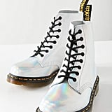 Dr. Martens Pascal Iced Metallic Silver Lazer Boot