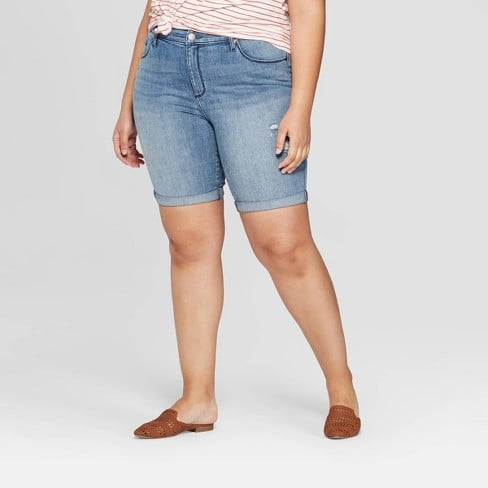 Target Mid-Rise Bermuda Jean Shorts